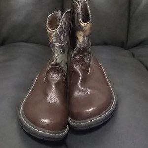 Faded Glory Brown & Camo Boots size 10 Boys